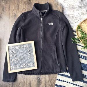 The North Face black full zip fleece jacket size S